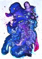 Unnamed Mental Health Week: A4 Drawing inks on perspex