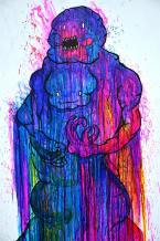 TwoFace: 8ftx6ft Drawing Inks on Wood
